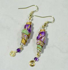 paper bead earrings - Buscar con Google