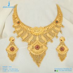 Gold 916 Premium Design Get in touch with us on Gold Jewelry Simple, Gold Wedding Jewelry, Gold Initial Pendant, Gold Jewellery Design, Rose Gold Earrings, Bridal Necklace, Or, Gold Necklaces, Neck Piece