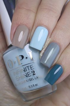 OPI Fiji Skittle Manicure - I am wearing (from pointer to pinkie finger) Coconuts Over OPI, Suzi Without a Paddle, I Can Never Hut Up and Is that a Spear in Your Pocket? Crome Nails, Super Nails, Opi Nails, Gel Manicures, Nails 2017, Nail Nail, Nagel Gel, Nail Polish Colors, Opi Polish