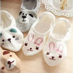Hosiery & Socks Women Invisible Cotton Socks No Show Nonslip Loafer Liner Low Cut Cartoon Animal Boat Cartoon, Cartoon Panda, Cute Cartoon Animals, Cartoon Rabbit, Moda Animal, Animal Print Socks, Bear Slippers, Style Asiatique, Feminine Fashion