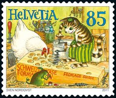 Switzerland: Sven Nordqvist – Findus the Cat making Swiss Cheese.