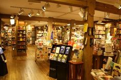 Northshire Bookstore in Manchester, VT. The coziest bookstore ever, and a great children's section!