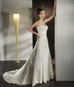 Ultra Sophisticates Style 1429 by Demetrios. Macy's Bridal Salon by Demetrios #Minneapolis #BridalGown #Wedding #Lace