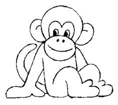 monkey coloring pages free printable - Google Search