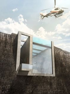"""Developed by Laertis Antonios Ando Vassiliou and Pantelis Kampouropoulos of Open Platform for Architecture (OPA), Casa Brutale is """"a poetic homage"""" to Brutalist architecture, a modernist style that became popular in the 1950s through 1970s."""