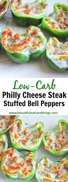 Low-Carb Philly Cheese Steak Stuffed Bell Peppers! low carb recipes | ketogenic recipe ideas | keto recipes | healthy recipes | easy dinner ideas | stuffed bell peppers | clean eating | fitness | weight loss recipes | fitness motivation