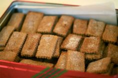 [Photographs: Gina DePalma] When it comes to holiday baking, I find that is always necessary to balance the more intricate and time consuming cookies with those that require little effort, no waste and optimal taste. These Swiss Cinnamon Crisps fit. Thinking Day, Swiss Desserts, Swiss Recipes, Cinnamon Crisps Recipe, Cinnamon Cookies, Something Sweet, Effort, Cookie Bars, Cookie Swap