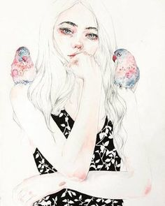 Visual dose: beautifulbizarremagazine: Such a beautiful and delicate  watercolour by @rcbynn on Tumblr! // Source https://tmblr.co/ZT05Wx2EcxhwV