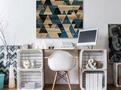 Do It Yourself Decoration, Monochrome, Popcorn Ceiling, Palette, Interior Inspiration, Office Desk, Vanity, Diy, Furniture