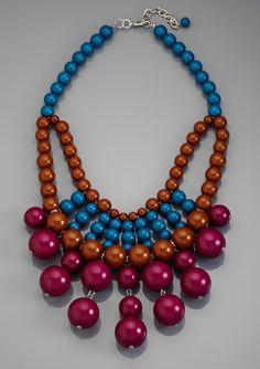 LOLA Ball Bib Necklace