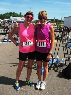 Finished my first sprint triathlon with my Mama! Swim (1/4 mile), Bike (10 miles), Run (3.1 miles) Accomplished feeling
