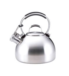 KitchenAid® Porcelain Enamel Teakettle (50585 Brushed Stainless Steel) |