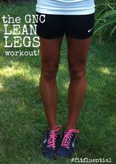 Lean Legs Workout with GNC: 5 dynamic moves for 20 seconds. 3 rounds. No equipment.
