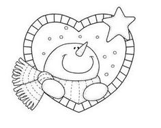 Snowman coloring book page to use as embroidery and/or quilting template.  moldes da net pra vc by ALEPE ATELIÊ, via Flickr