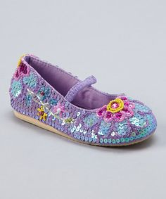Look at this #zulilyfind! Light Purple Sequin Flower Blooming Flat by Fairy Dreams #zulilyfinds
