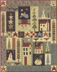 Pine tree quilt patterns | Primitive Folk Art BOM Quilt Pattern PINE Tree by PrimFolkArtShop, $84 ...