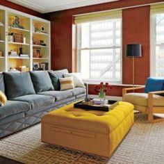Para os apaixonados por cinza, mas que também adoram um pouco de cor, selecionei algumas referências que entraram pra minha lista de desejos para a casa nova (quando eu tiver uma kkkk)! Imagens via Pinterest