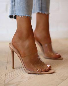 21 Heeled Mules for Beautiful Women Patent Heels, Stiletto Heels, High Heels, Nude Heels, Quinceanera Shoes, Transparent Heels, Lingerie Heels, Heels Outfits, Clear Heels