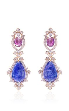 Royal Grace Earrings by FARAH KHAN FINE JEWELRY for Preorder on Moda Operandi
