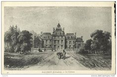 Château de Balleroy (Normandie): estampe reproduite sur une carte postale. Auteur / éditeur inconnu. Delcampe 50216602.