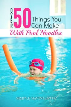 If you have little ones running around, chances are you have a few extra pool noodles. Put them to good use! We've rounded up 50 Things to Do With Pool Noodles. Don't have any? Snag some at your local dollar store for just $1 and have some fabulous, fruga