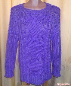 Модный пуловер. Спицы. Результат