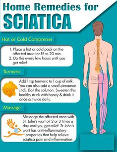 Sciatica: Remedies and Exercises for Natural Pain Relief Prev of Sciatica is pain caused by irritation or compression of the sciatic nerve. It usually affects only one part of the body but tends to be severe and debilitating. The pain usually e Sciatica Pain Relief, Sciatic Pain, Sciatica Pillow, Natural Pain Relief, Back Pain Relief, Fitness Workouts, Health Remedies, Home Remedies, Arthritis Remedies