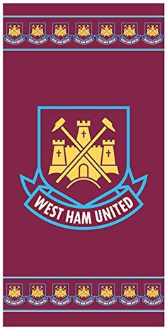 West Ham United 70 x 140 cm 100 Percent Cotton Beach Towel, Multi-Colour