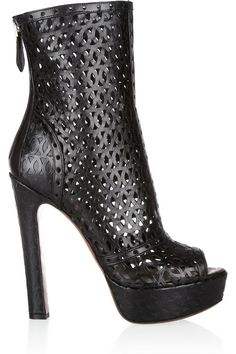Alaia  laser cut/perforated  Ankle Boots