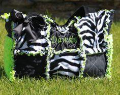Custom Rag Quilted Diaper bag for Girl or Boy by calchicbyjacquiek