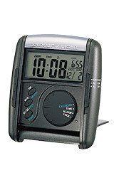 Seiko Get Up & Glow Black Travel Alarm Clock - Travel Alarm Clock, Alarm Clocks, Calendar Time, Tabletop Clocks, Perpetual Calendar, Halloween Sale, Diy Camping, Plastic, Digital Alarm Clock