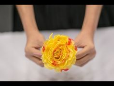 How to make beautiful flowers out of recycled plastic bag and straw : DIY Mother's day gift - YouTube