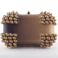 Devina Juneja Knot Box Clutch - Ombre leather with hand knot details - visit us at www.devinajuneja.com