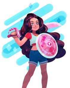 Image in Steven Universe collection by Captain Marvel Steven Universe Stevonnie, Desenhos Cartoon Network, Pose, Universe Art, Cute Art, Character Inspiration, Fan Art, Image, Cartoons