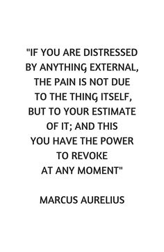 """""""Stoic Philosophy Quote - Marcus Aurelius - If you are distressed"""" Canvas Prints by IdeasForArtists Philosophy Theories, Philosophy Quotes, Motivational Thoughts, Motivational Quotes, Inspirational Quotes, Quotes To Live By, Me Quotes, Daily Quotes, Stoicism Quotes"""