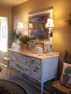 Cottage Charm Creations: Vintage WWII Sideboard