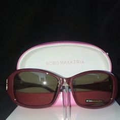 **Authentic BCBG DREAM sunglasses limited addition Limited addition Susan G Komen for the cure comes with case NWOT. Wine color eye size 57-16-130 Beautiful sunglasses BCBG Accessories Sunglasses