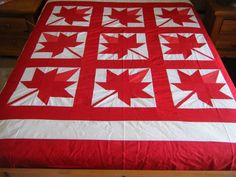Canadian Maple Leaf Quilt Top