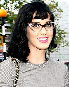 The Perfect Star-Inspired Glasses for You - Katy Perry in Large Cat-Eye Frames from #InStyle