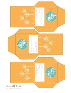 Free Printable Flower Seed Envelopes from Garden Therapy