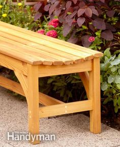 How to Build a Garden Bench - Step by Step: The Family Handyman