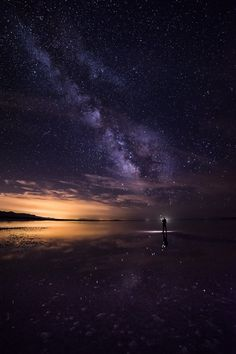 Milky Way selfie near Spiral Jetty | by: { Prajit Ravindran }