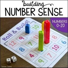Number sense activities for Kindergarten and 1st grade. These activities are perfect to help students gain awareness of the numbers 0-20. Students practice ordering numbers, comparing numbers, building numbers, and identifying different ways to make the numbers 0-20.WANT DETAILED LESSON PLANS TO GO WITH EACH OF THESE ACTIVITIES?! #mathforkindergarten