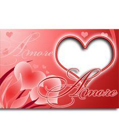 Postal de amor con forma de corazón para tu amado. http://www.fotoefectos.com