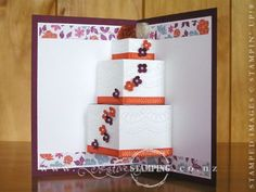 Popup Wedding Cake Card
