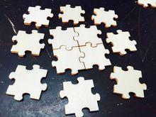 Nový přírůstek 50ks Dřevěné MDF Puzzle umění řemesla DIY Výzdoby dekorace Dřevo…