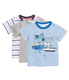 3-pack T-shirts | Gray melange | Kids | H&M US