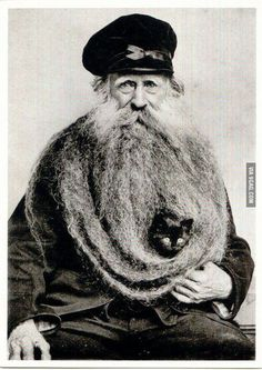 I dont usually grow a beard but when I do a cat can live in it.