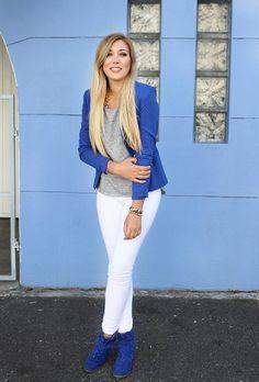 @roressclothes closet ideas #women fashion outfit #clothing style apparel Cobalt Blazer