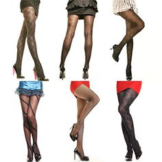 ililily Women Basic 5 Pairs Nylon 80D Semi Sheer Ankle High Tights Hosiery Socks